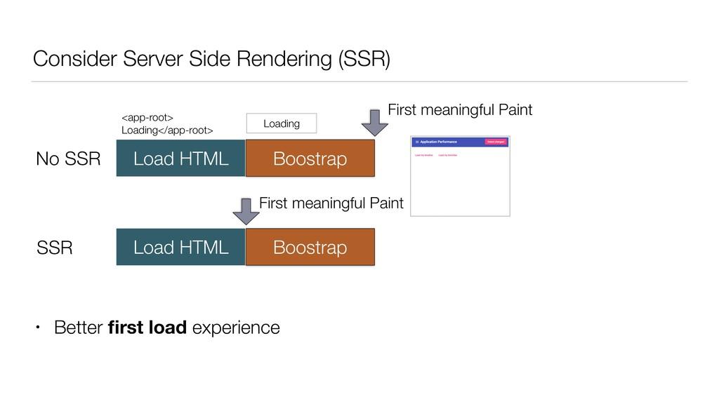 Consider Server Side Rendering (SSR) No SSR Loa...