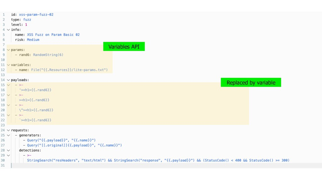 Variables API Replaced by variable