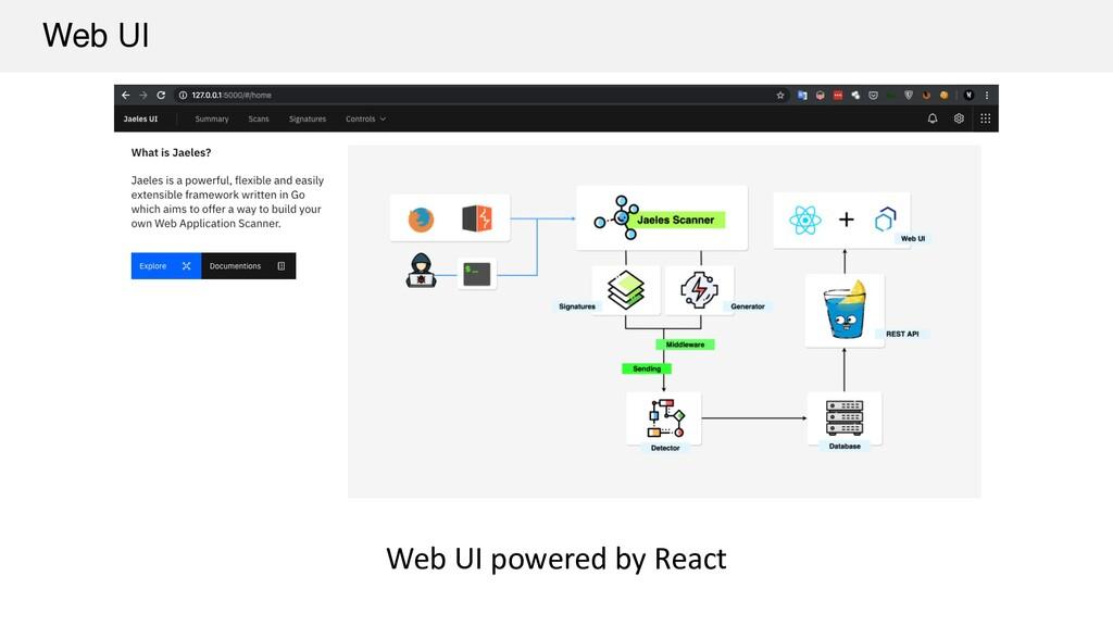 Web UI Web UI powered by React