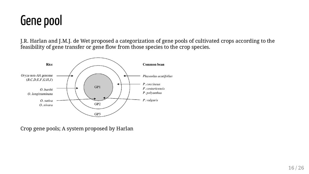 Gene pool J.R. Harlan and J.M.J. de Wet propose...