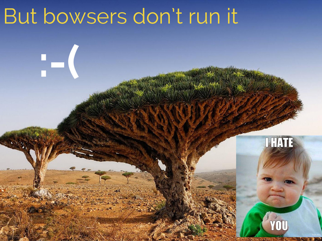 But bowsers don't run it :-(