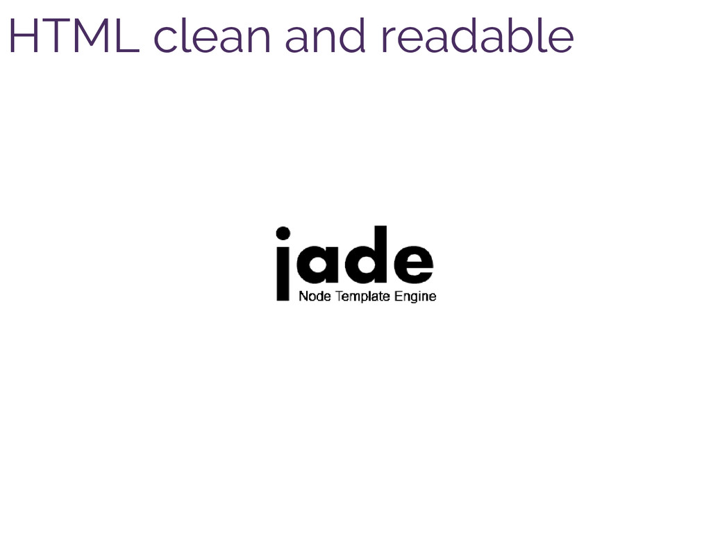 HTML clean and readable