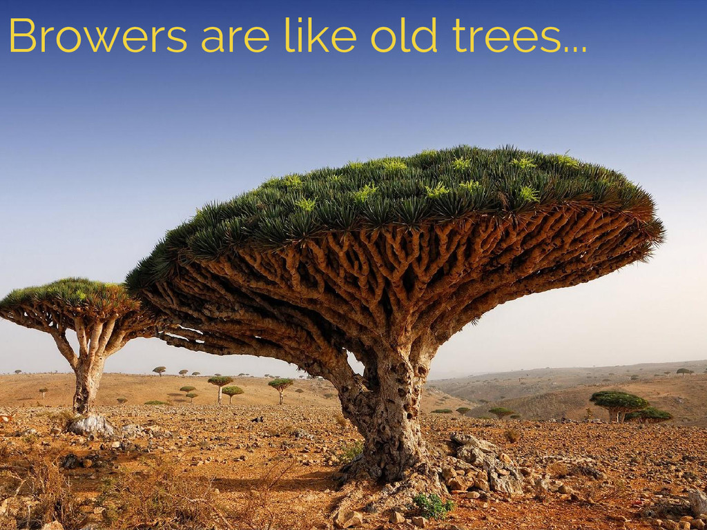 Browers are like old trees...