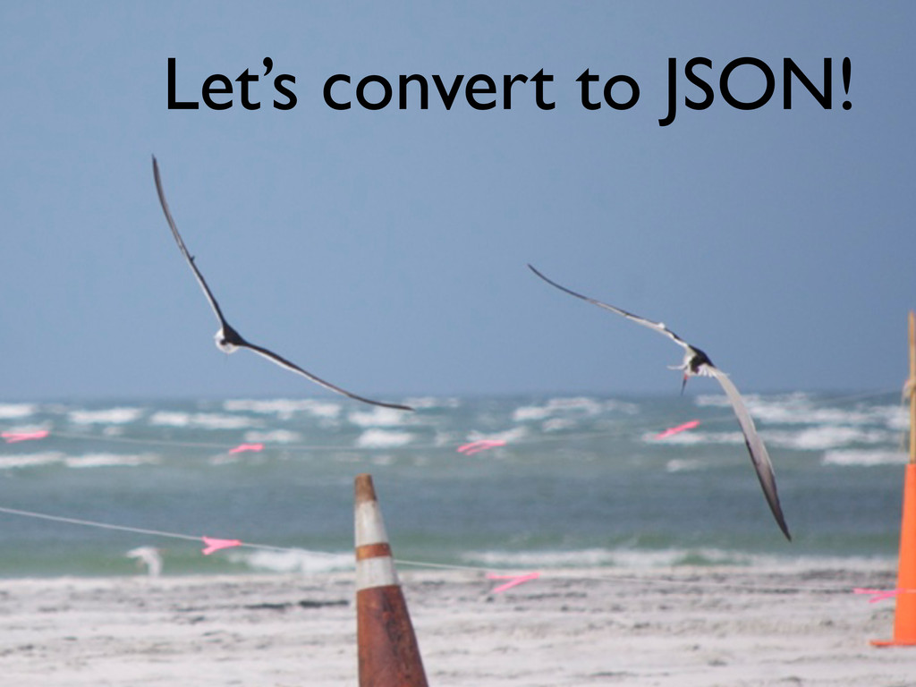 Let's convert to JSON!