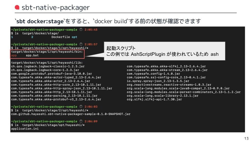 sbt-native-packager `sbt docker:stage`をすると、`doc...