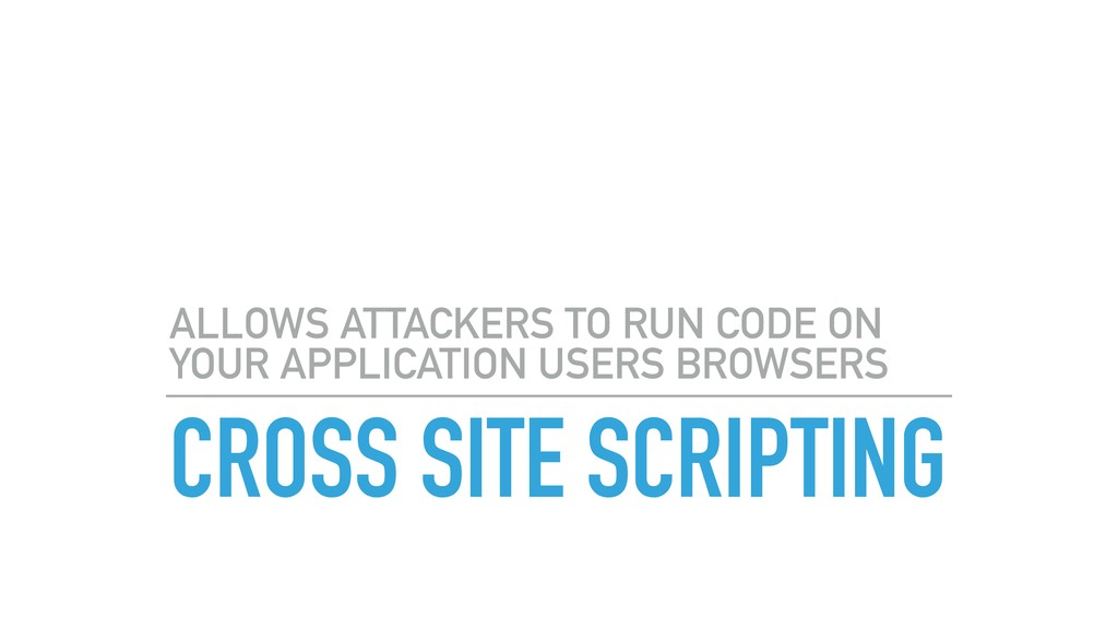 CROSS SITE SCRIPTING ALLOWS ATTACKERS TO RUN CO...
