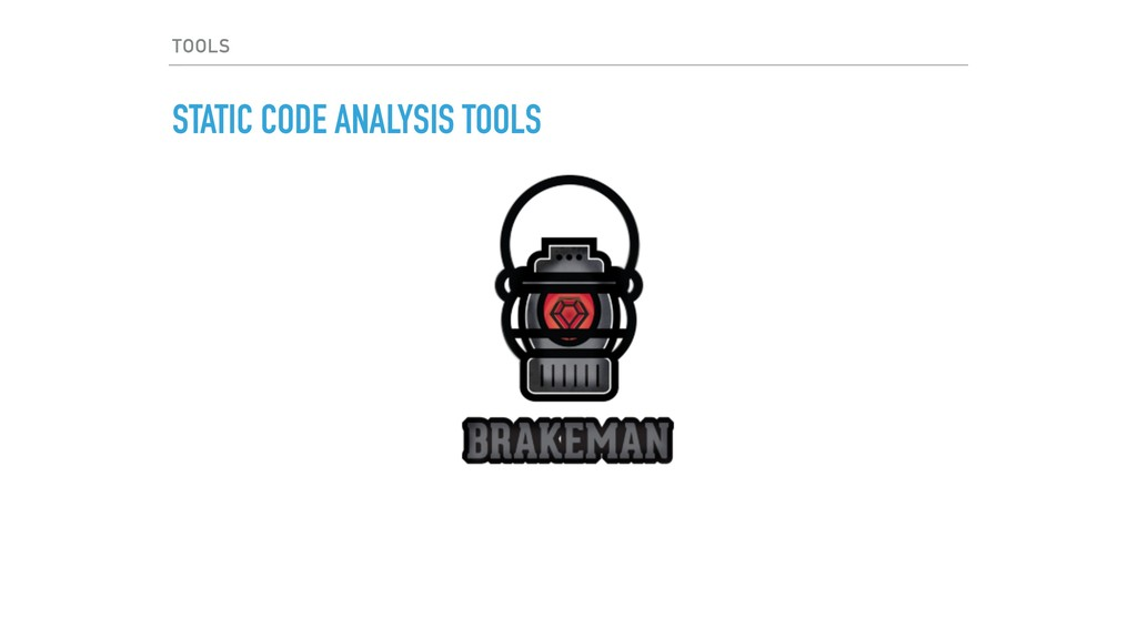 TOOLS STATIC CODE ANALYSIS TOOLS