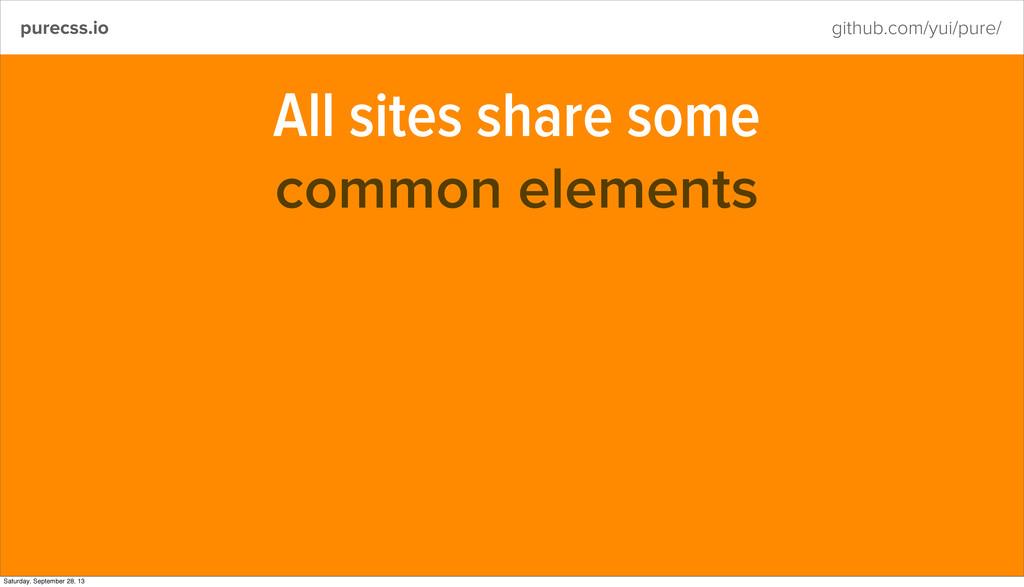 purecss.io github.com/yui/pure/ All sites share...