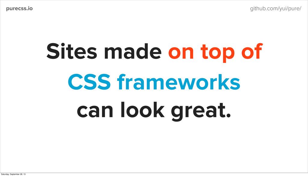 purecss.io github.com/yui/pure/ CSS frameworks ...