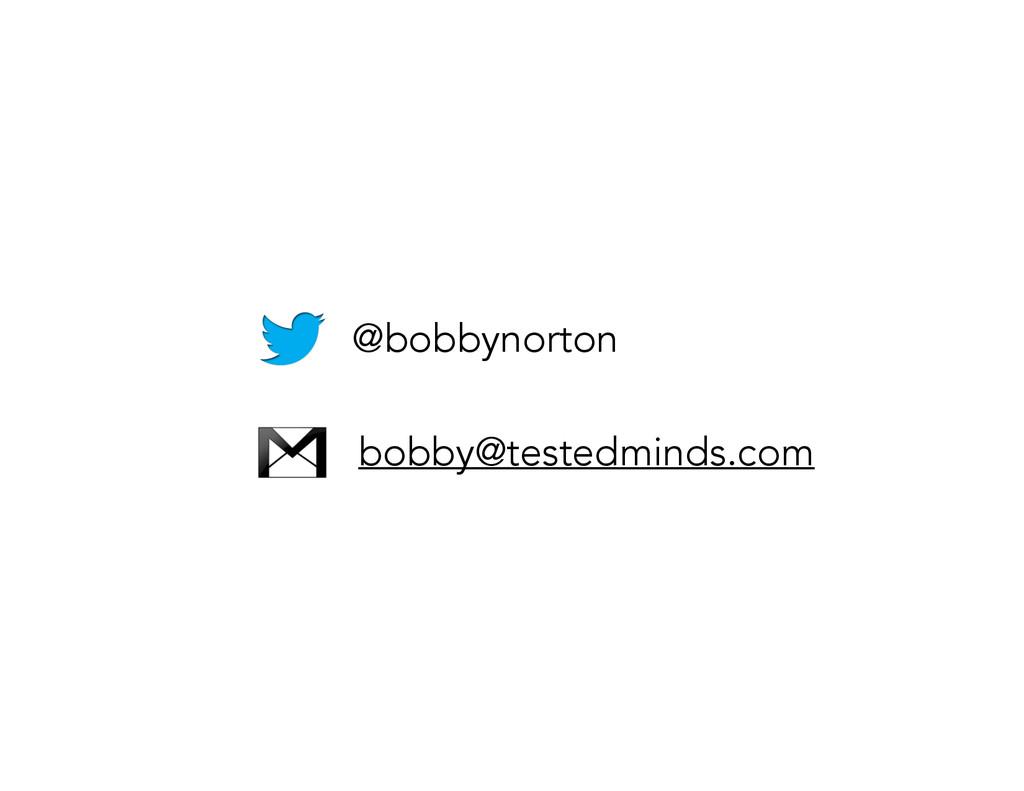@bobbynorton bobby@testedminds.com