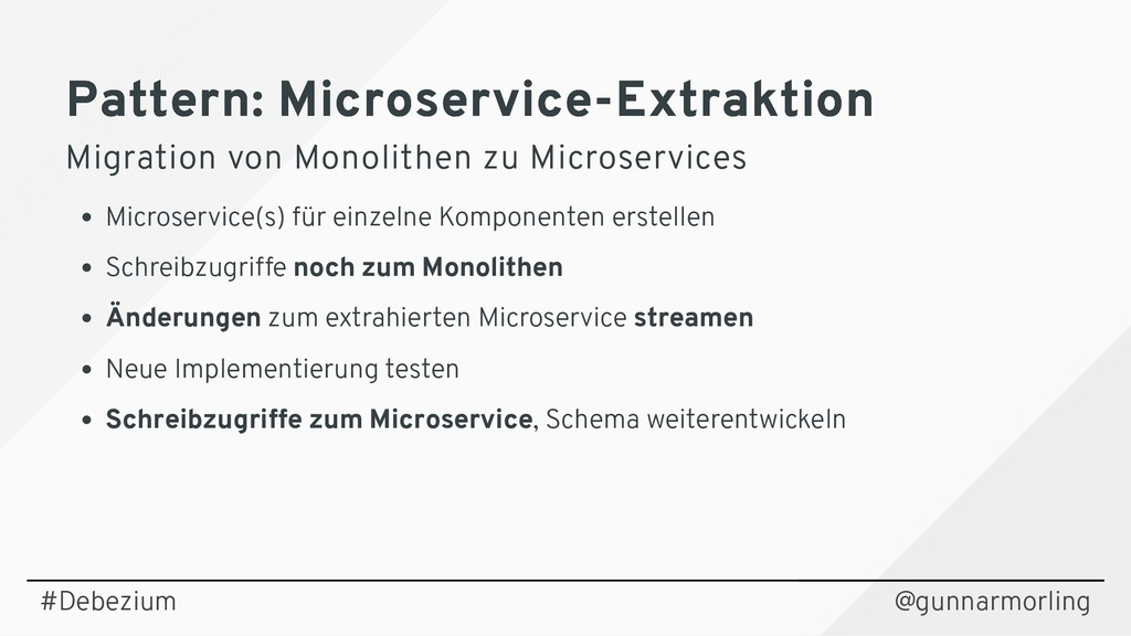 Pattern: Microservice-Extraktion Pattern: Micro...