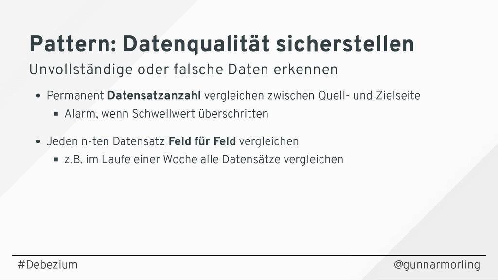 Pattern: Datenqualität sicherstellen Pattern: D...