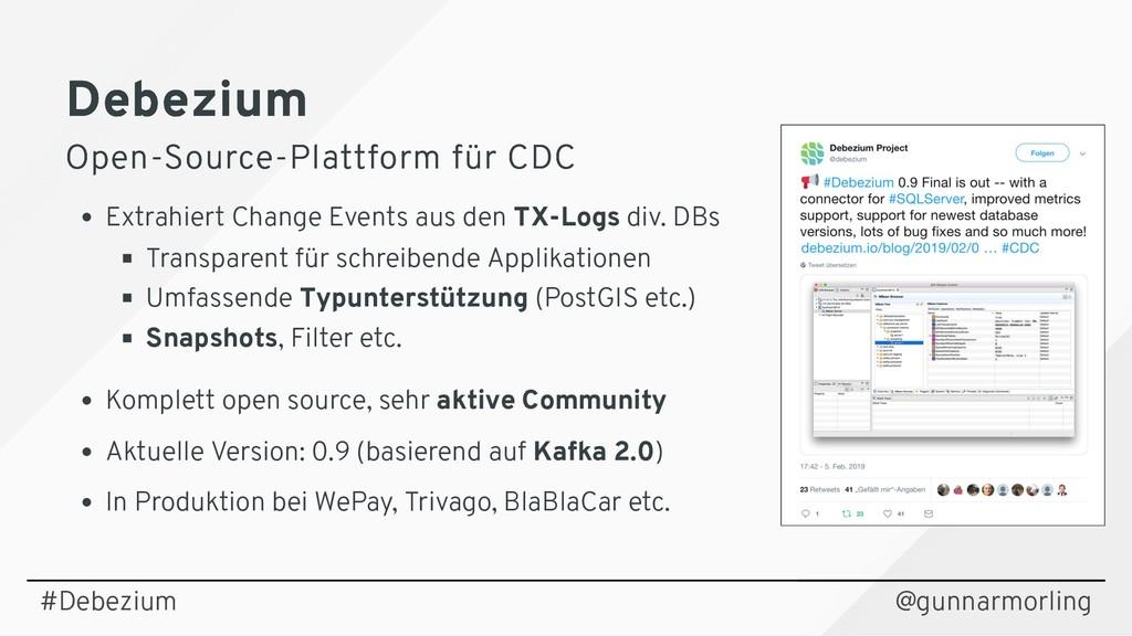 Debezium Debezium Open-Source-Plattform für CDC...