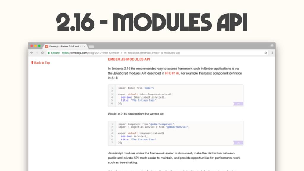 2.16 - Modules API