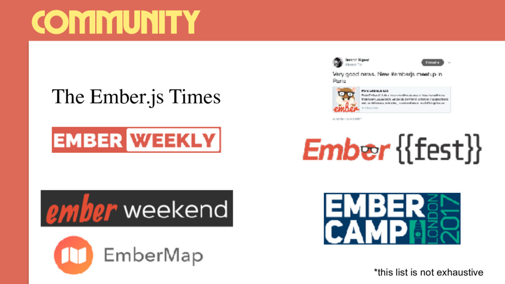 community The Ember.js Times *this list is not ...
