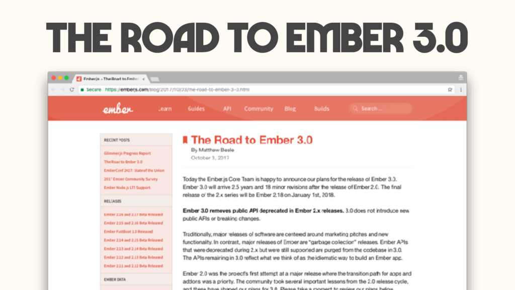 The road to ember 3.0