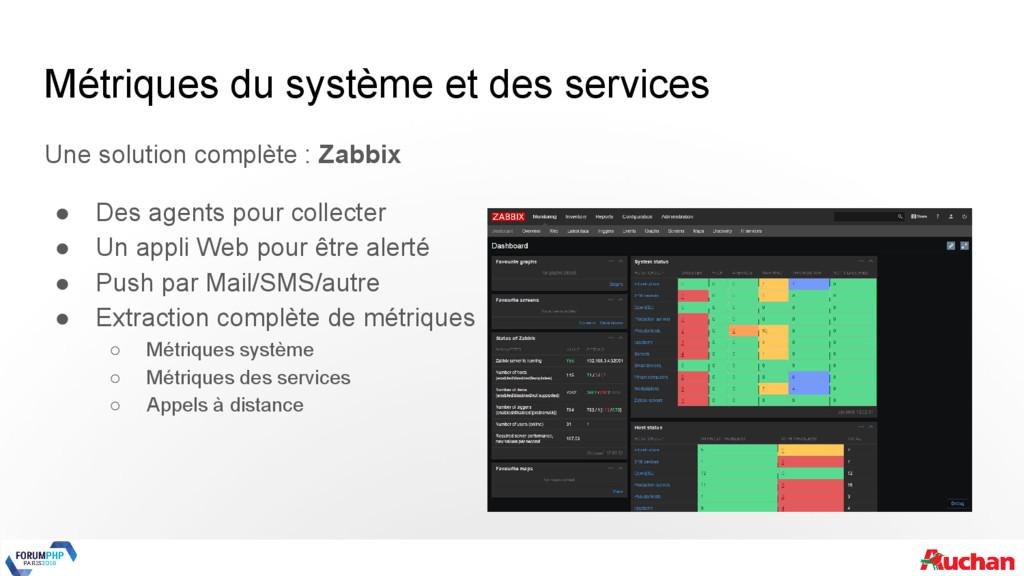 Métriques du système et des services Une soluti...