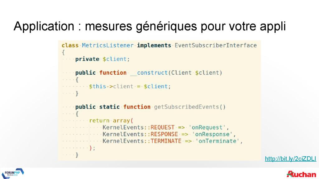 Application : mesures génériques pour votre app...