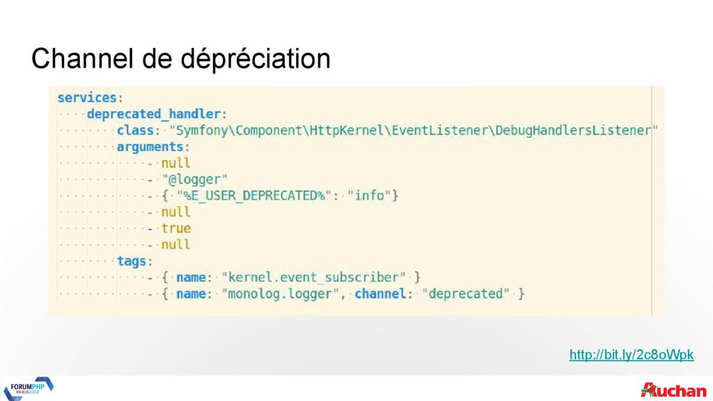 Channel de dépréciation http://bit.ly/2c8oWpk