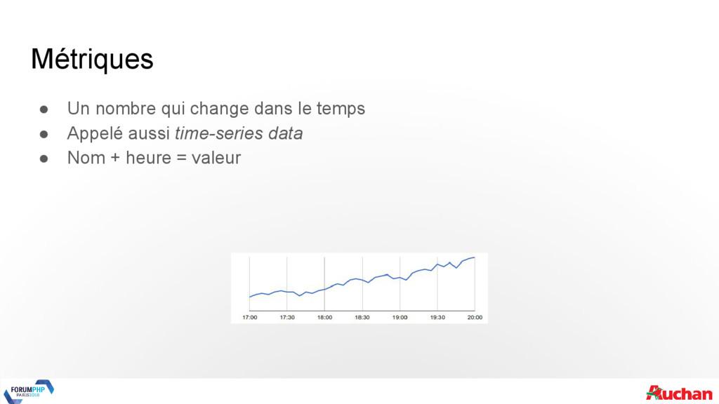 Métriques ● Un nombre qui change dans le temps ...