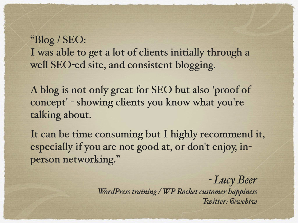 - Lucy Beer WordPress training / WP Rocket cus...