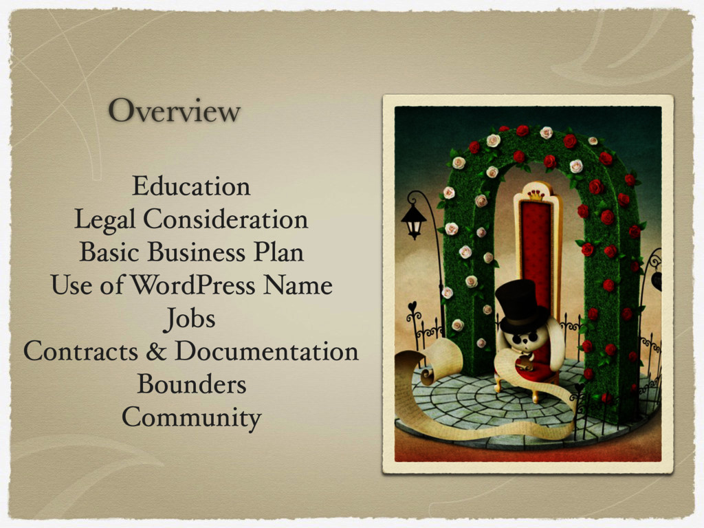 Overview Education Legal Consideration Basic Bu...