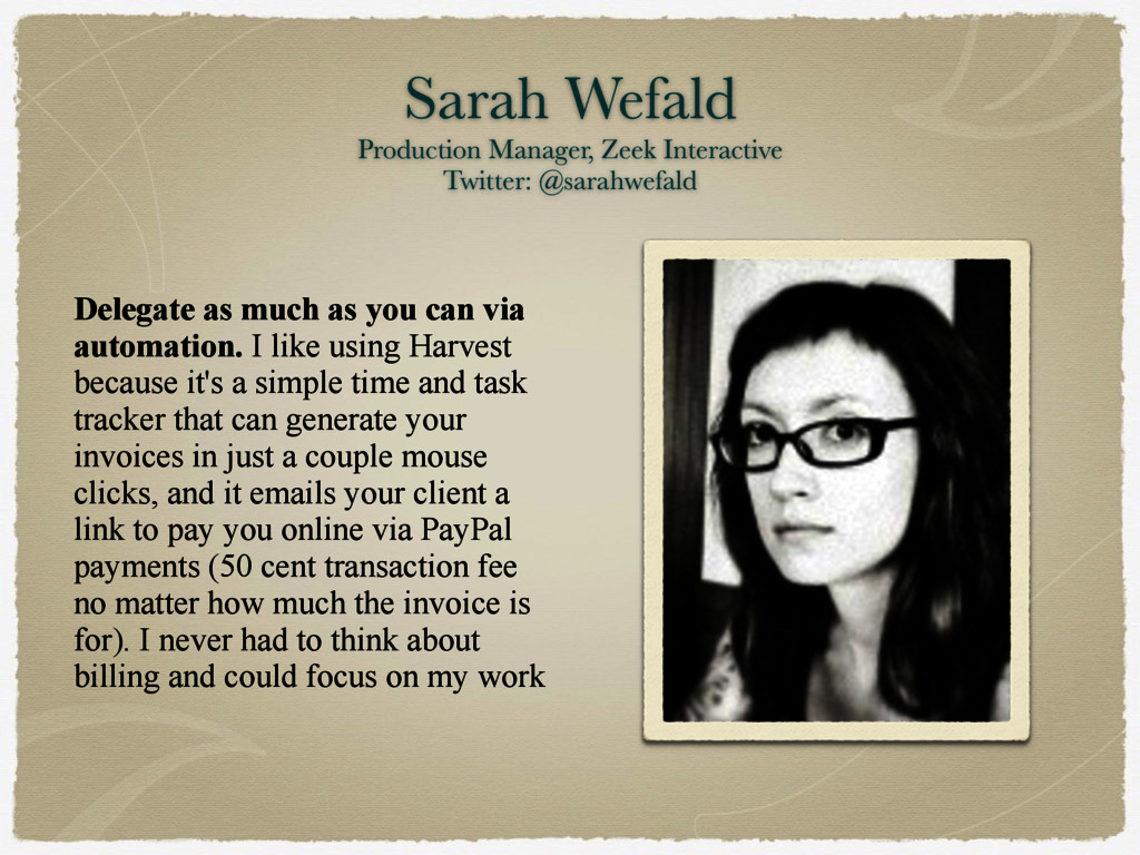 Sarah Wefald Production Manager, Zeek Interact...