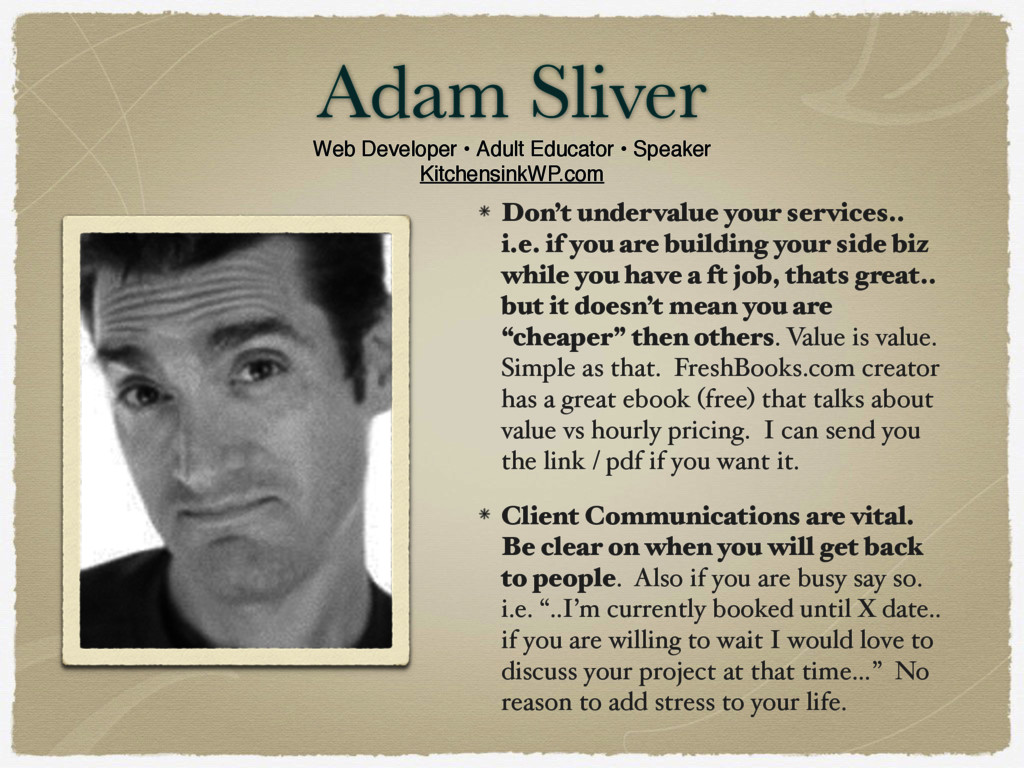 Adam Sliver Web Developer • Adult Educator • Sp...