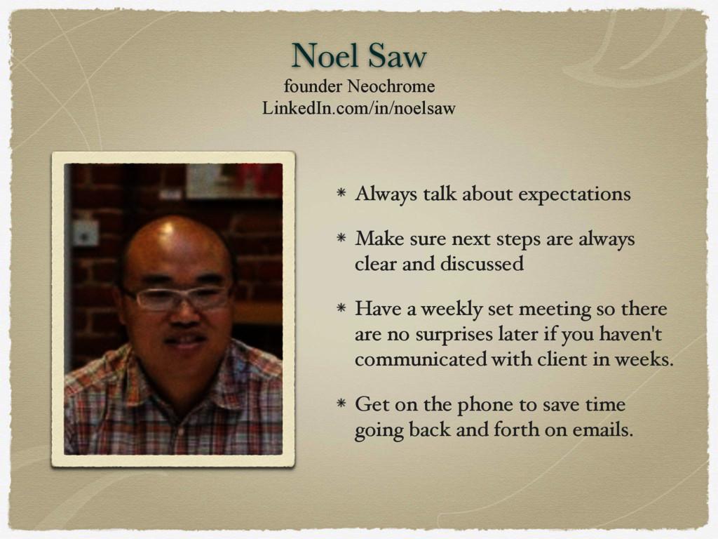 Noel Saw founder Neochrome LinkedIn.com/in/noel...