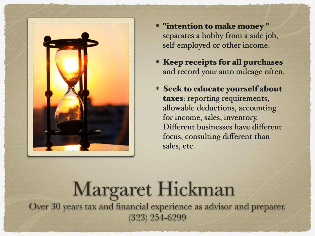Margaret Hickman  Over 30 years tax and financi...