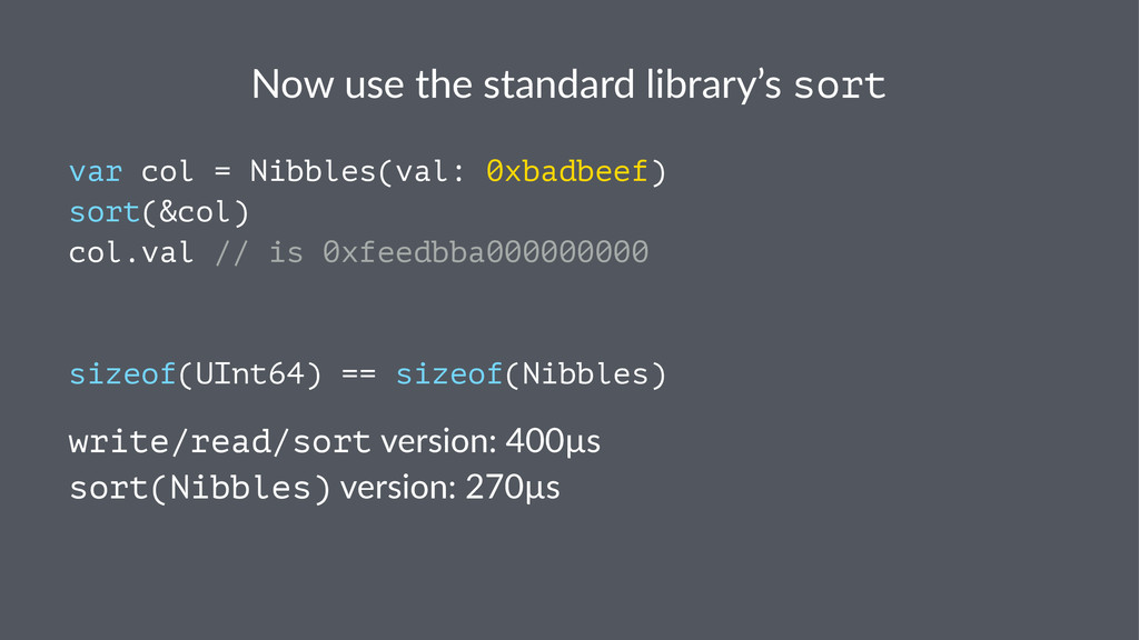 Now$use$the$standard$library's$sort var col = N...