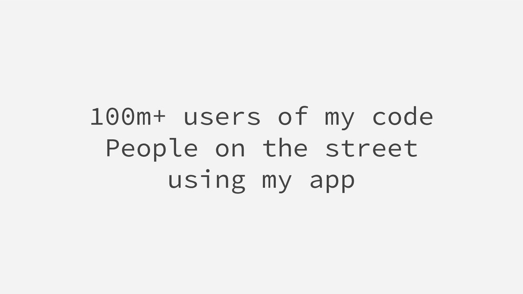 100m+ users of my code People on the street usi...