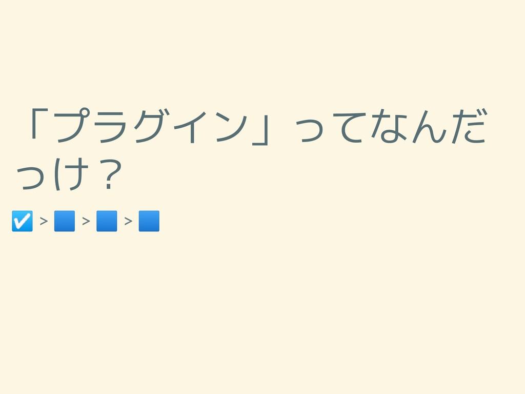 「プラグイン」ってなんだ っけ? ☑ > 🟦 > 🟦 > 🟦