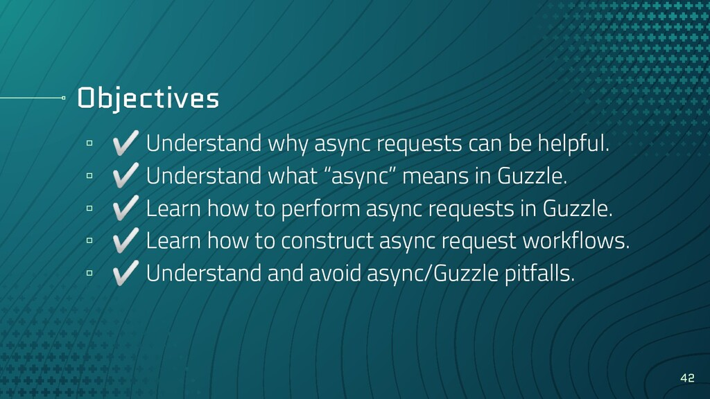 Objectives ▫ ✅ Understand why async requests ca...