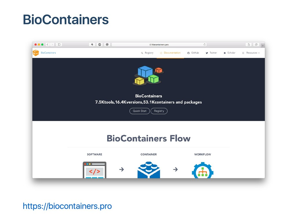 BioContainers https://biocontainers.pro