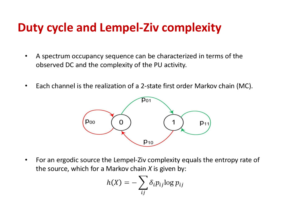 Duty cycle and Lempel-Ziv complexity • A spectr...