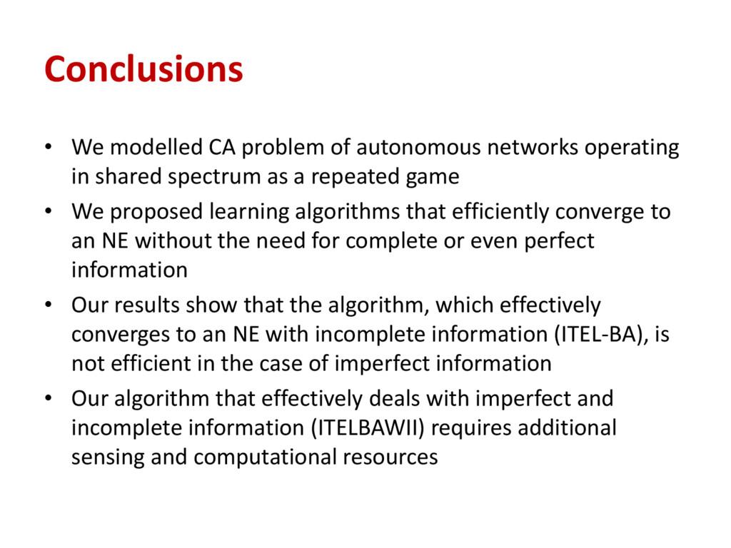 Conclusions • We modelled CA problem of autonom...