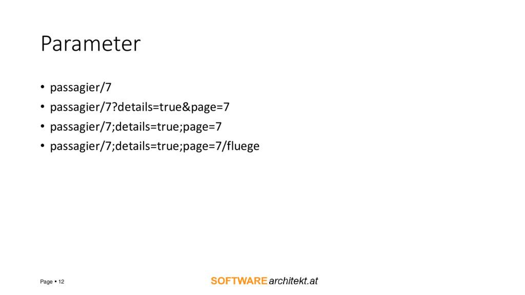 Parameter • passagier/7 • passagier/7?details=t...