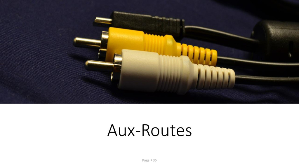 Aux-Routes Page ▪ 35