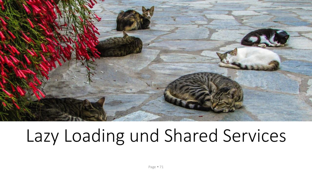 Lazy Loading und Shared Services Page ▪ 71