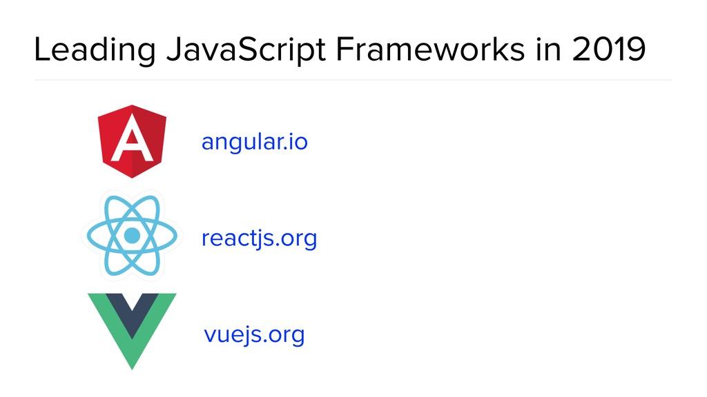 Leading JavaScript Frameworks in 2019 angular.i...