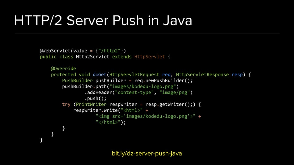 HTTP/2 Server Push in Java bit.ly/dz-server-pus...