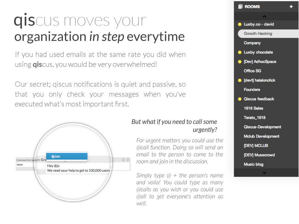 qiscus moves your organization in step everytim...
