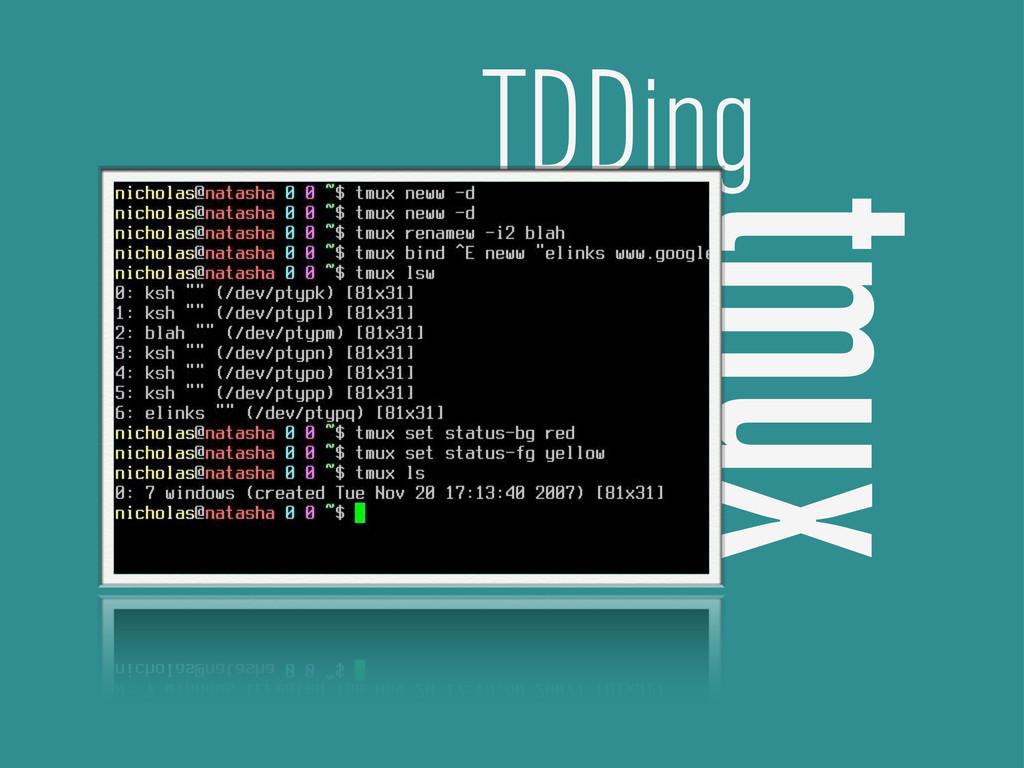 tmux TDDing