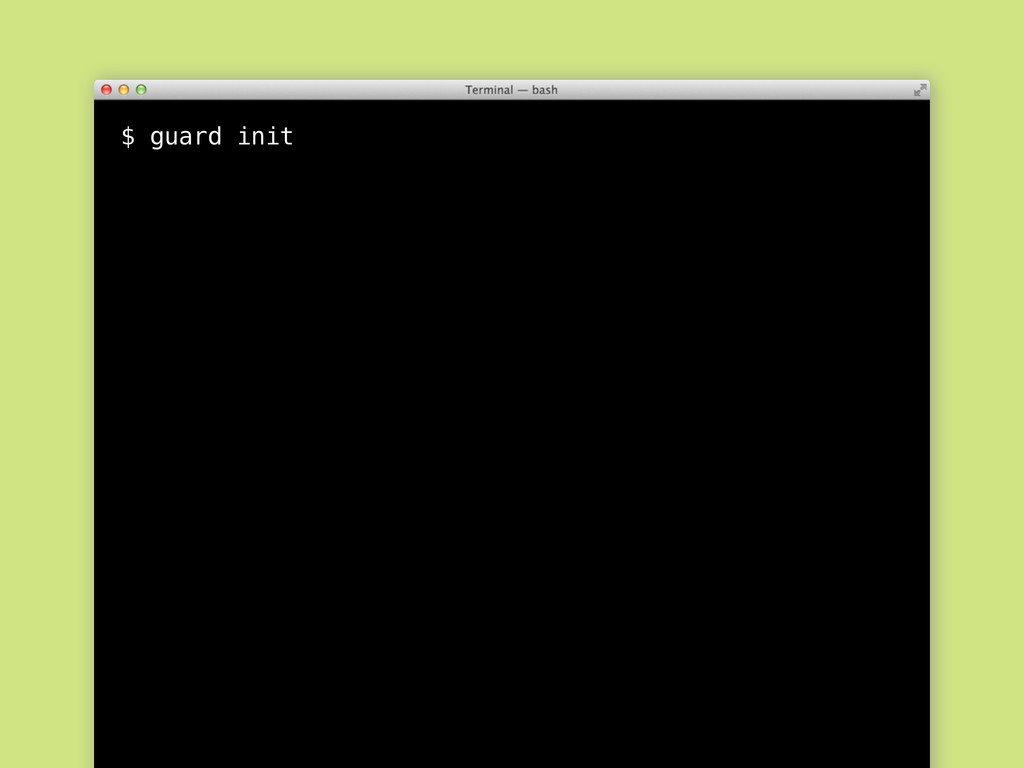 $ guard init