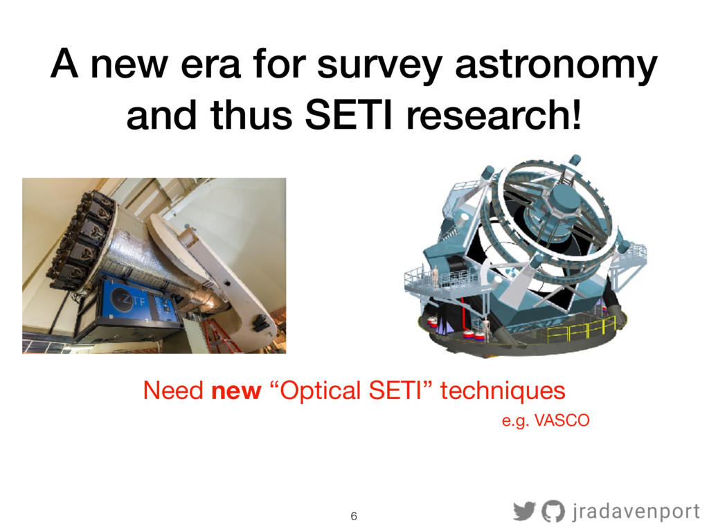 6 A new era for survey astronomy and thus SETI ...