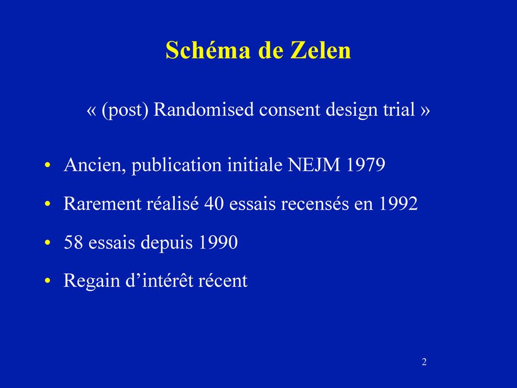 2 Schéma de Zelen « (post) Randomised consent d...