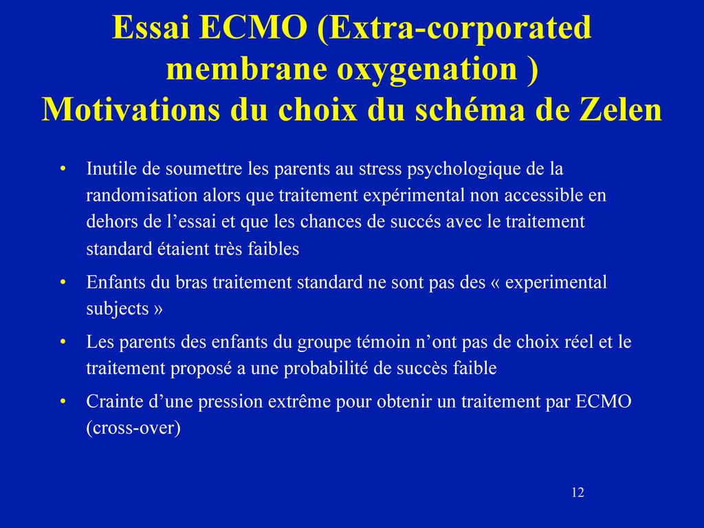 12 Essai ECMO (Extra-corporated membrane oxygen...