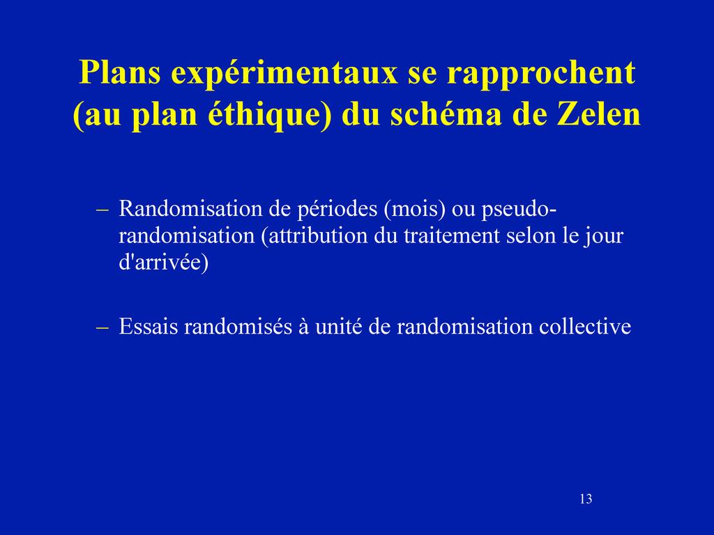 13 Plans expérimentaux se rapprochent (au plan ...