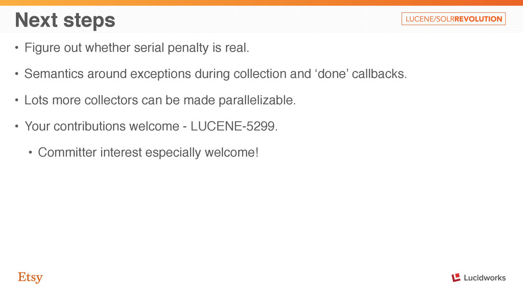 Next steps • Figure out whether serial penalty ...